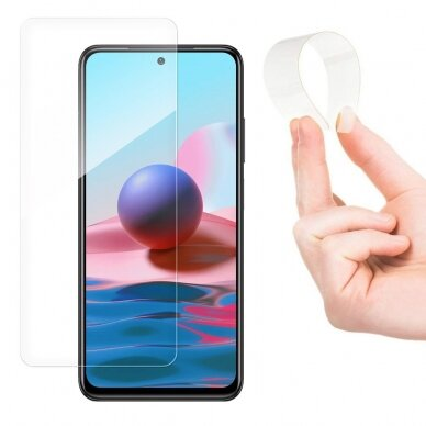 Wozinsky Nano Flexi Glass Hybrid Screen Protector skirtas Xiaomi Redmi Note 10 / Redmi Note 10S