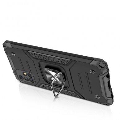 Dėklas Wozinsky Ring Armor Case Kickstand Tough Rugged Samsung Galaxy A51 5G Rožinis 4