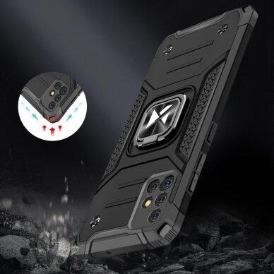 Dėklas Wozinsky Ring Armor Case Kickstand Tough Rugged Samsung Galaxy A51 5G Sidabrinis 5