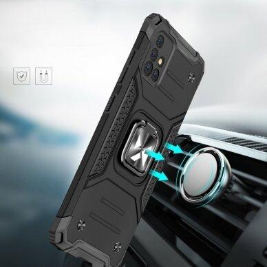Dėklas Wozinsky Ring Armor Case Kickstand Tough Rugged Samsung Galaxy A51 5G Sidabrinis 8