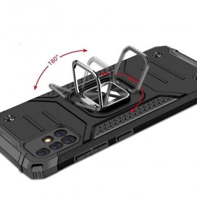 Dėklas Wozinsky Ring Armor Case Kickstand Tough Rugged Samsung Galaxy A51 5G Sidabrinis 6