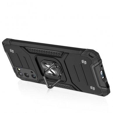 Dėklas Wozinsky Ring Armor Case Kickstand Tough Rugged Samsung Galaxy S20 Juodas 4