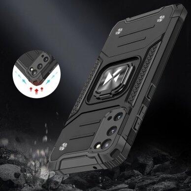 Dėklas Wozinsky Ring Armor Case Kickstand Tough Rugged Samsung Galaxy S20 Mėlynas 5