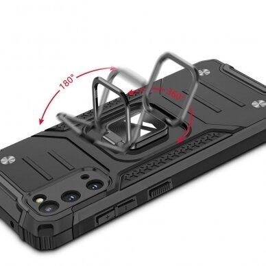 Dėklas Wozinsky Ring Armor Case Kickstand Tough Rugged Samsung Galaxy S20 Mėlynas 6