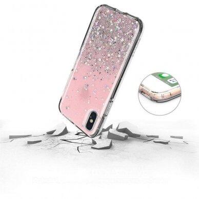 Dėklas Wozinsky Star Glitter Shining Samsung Galaxy S21+ 5G (S21 Plus 5G) Juodas 4
