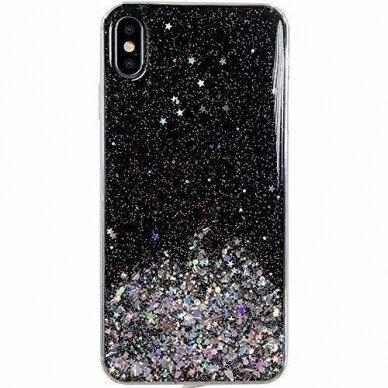 Dėklas Wozinsky Star Glitter Shining Samsung Galaxy S21+ 5G (S21 Plus 5G) Juodas 2