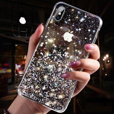 Dėklas Wozinsky Star Glitter Shining Samsung Galaxy S21+ 5G (S21 Plus 5G) Mėlynas 4