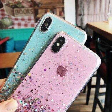 Dėklas Wozinsky Star Glitter Shining Samsung Galaxy S21+ 5G (S21 Plus 5G) Mėlynas 8