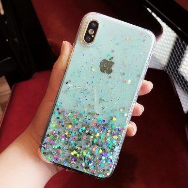 Dėklas Wozinsky Star Glitter Shining Samsung Galaxy S21+ 5G (S21 Plus 5G) Mėlynas 10