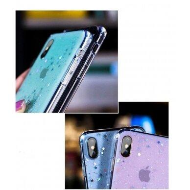 Dėklas Wozinsky Star Glitter Shining Samsung Galaxy S21+ 5G (S21 Plus 5G) Mėlynas 2