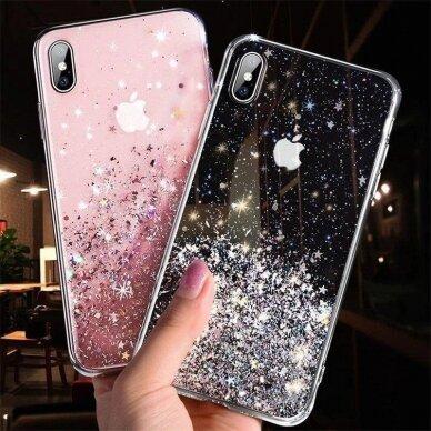 Dėklas Wozinsky Star Glitter Shining Samsung Galaxy S21+ 5G (S21 Plus 5G) Permatomas 9