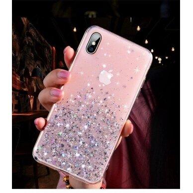 Dėklas Wozinsky Star Glitter Shining Samsung Galaxy S21+ 5G (S21 Plus 5G) Permatomas 11