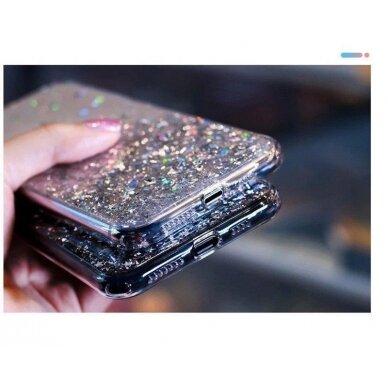 Dėklas Wozinsky Star Glitter Shining Samsung Galaxy S21+ 5G (S21 Plus 5G) Permatomas 12