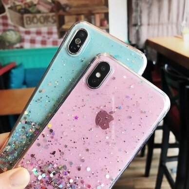 Dėklas Wozinsky Star Glitter Shining Samsung Galaxy S21+ 5G (S21 Plus 5G) Permatomas 16
