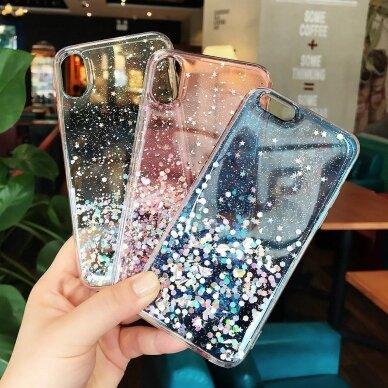 Dėklas Wozinsky Star Glitter Shining Samsung Galaxy S21+ 5G (S21 Plus 5G) Permatomas 17