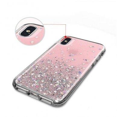 Dėklas Wozinsky Star Glitter Shining Samsung Galaxy S21+ 5G (S21 Plus 5G) Permatomas 5