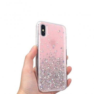 Dėklas Wozinsky Star Glitter Shining Samsung Galaxy S21+ 5G (S21 Plus 5G) Permatomas 6