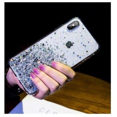 Dėklas Wozinsky Star Glitter Shining Samsung Galaxy S21+ 5G (S21 Plus 5G) Permatomas 7