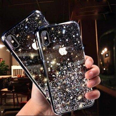 Dėklas Wozinsky Star Glitter Shining Samsung Galaxy S21+ 5G (S21 Plus 5G) Permatomas 8